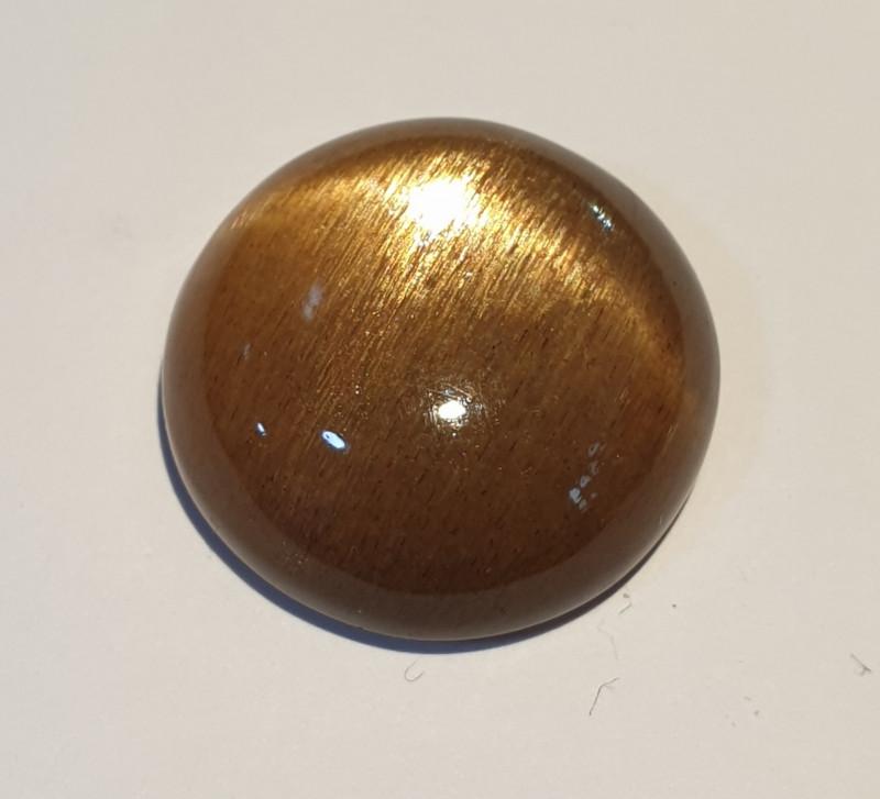 17.89ct  Cats Eye Sunstone Round Cabochon 18mm(SKU168)