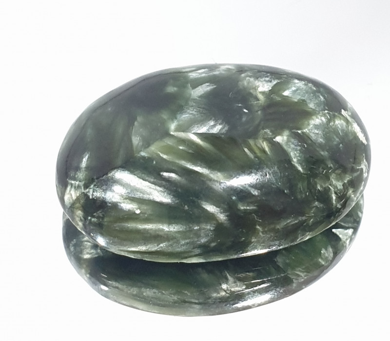 20.6ct Seraphinite Cabochon 22.6x16mm(SKU 164)