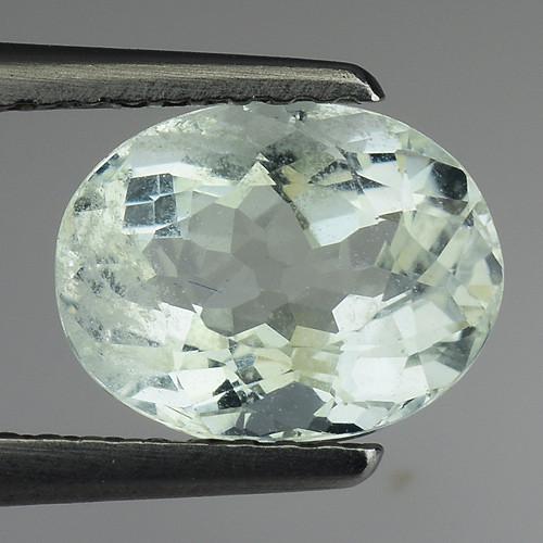 1.69 Ct Natural Aquamarine Top Luster Gemstone. AQ 28