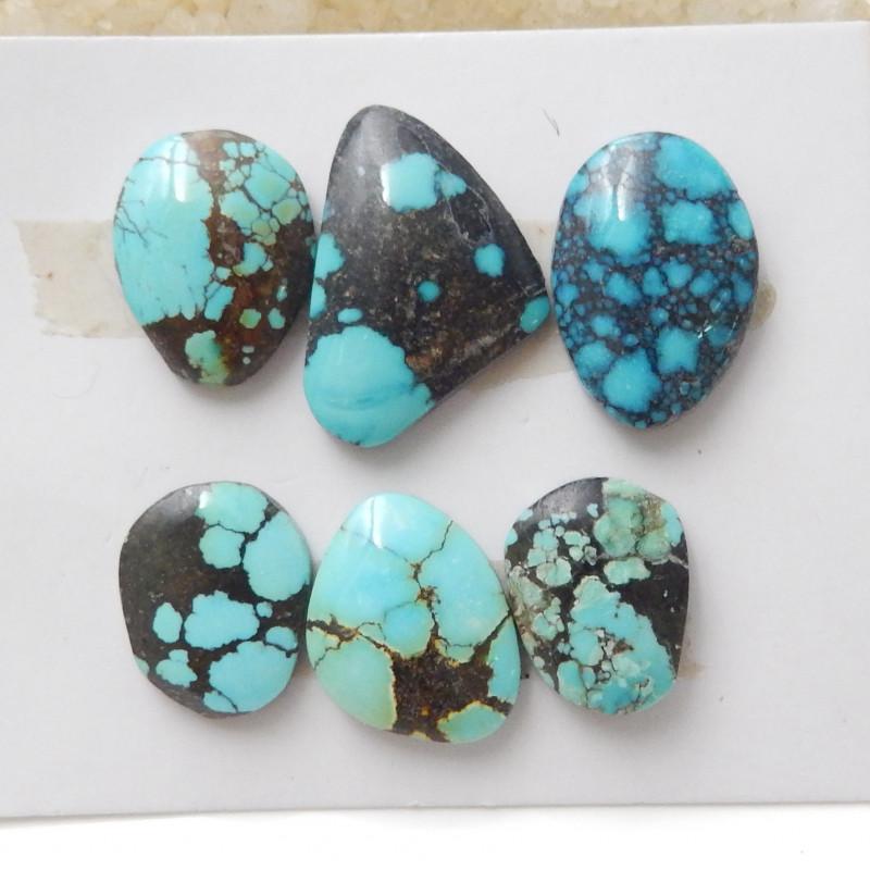 6pcs Turquoise ,Handmade Gemstone ,Turquoise Cabochons ,Lucky Stone F639