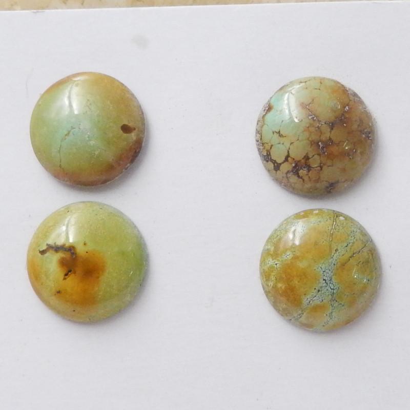4pcs Round Turquoise ,Handmade Gemstone ,Turquoise Cabochons ,Lucky Stone F