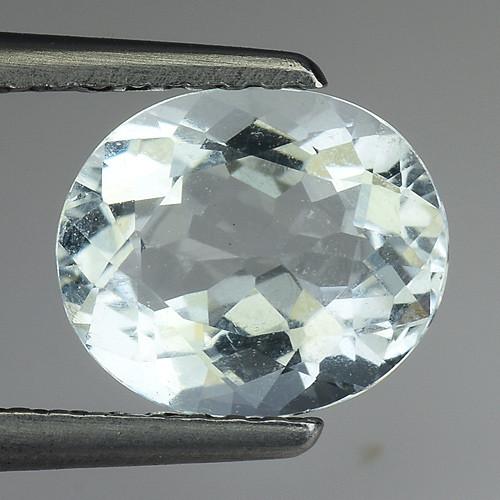 1.45 Ct Natural Aquamarine Top Luster Gemstone. AQ 30