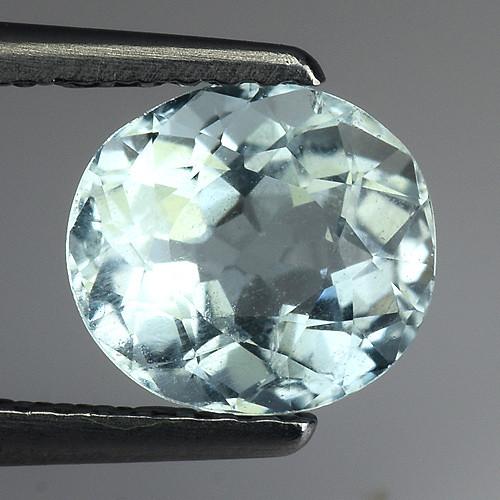 1.35 Ct Natural Aquamarine Top Luster Gemstone. AQ 32