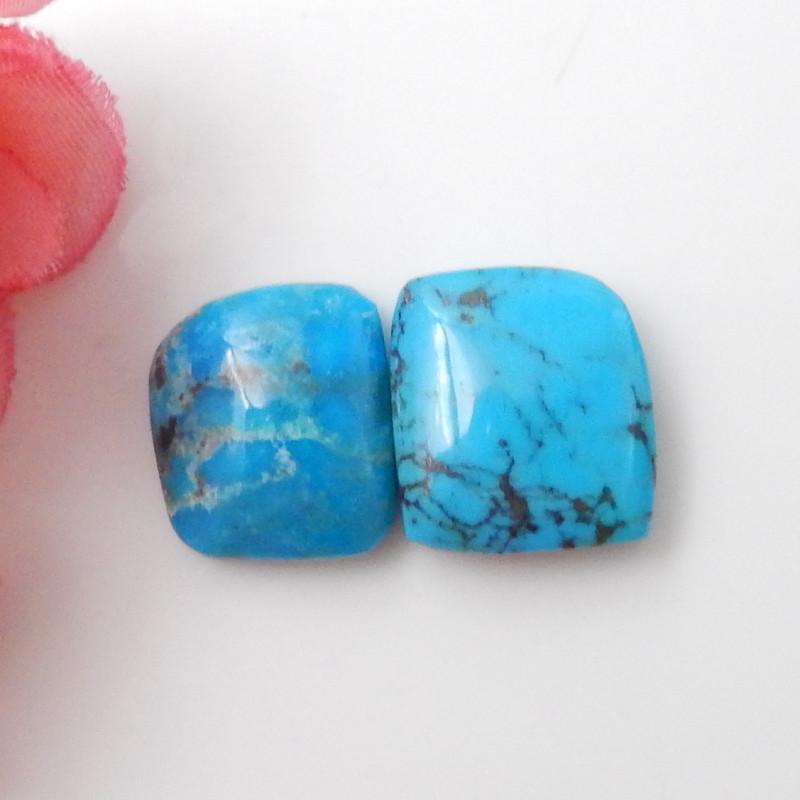 2pcs Blue Turquoise ,Handmade Gemstone ,Turquoise Cabochons F644