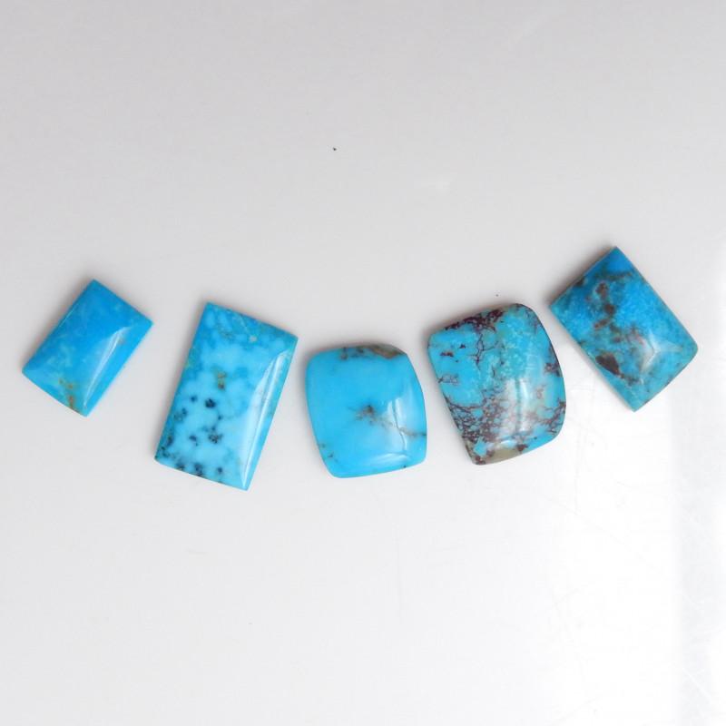 5pcs Blue Turquoise ,Handmade Gemstone ,Turquoise Cabochons F645
