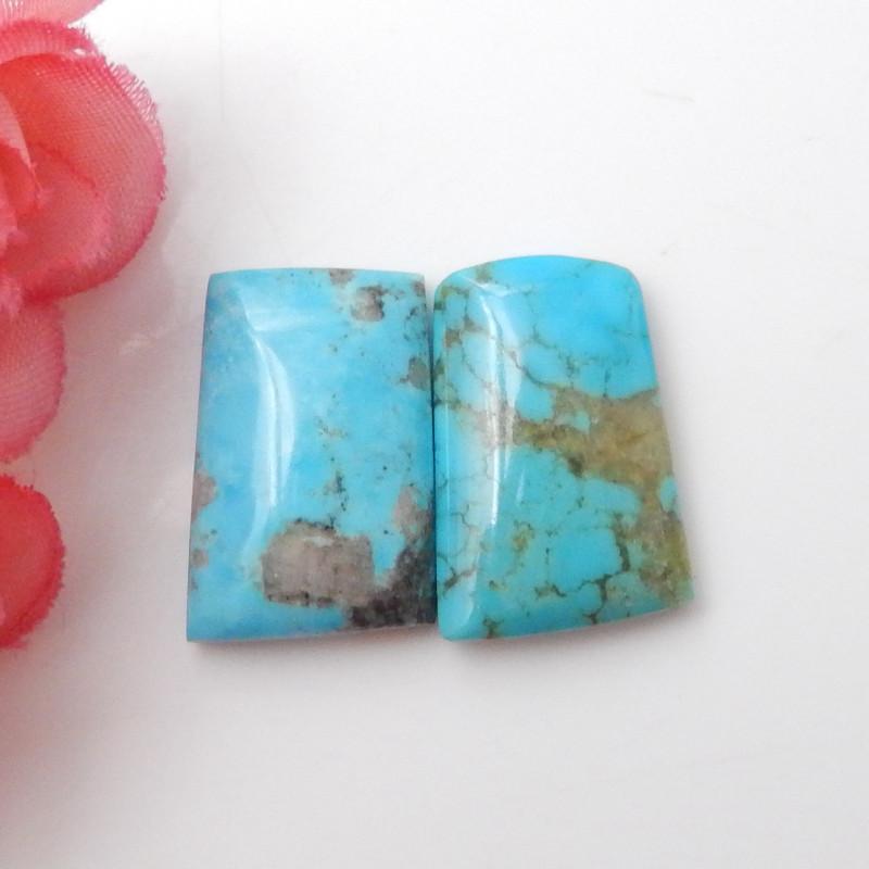 2pcs Turquoise Cabochons ,Handmade Gemstone ,Turquoise Cabochons F647