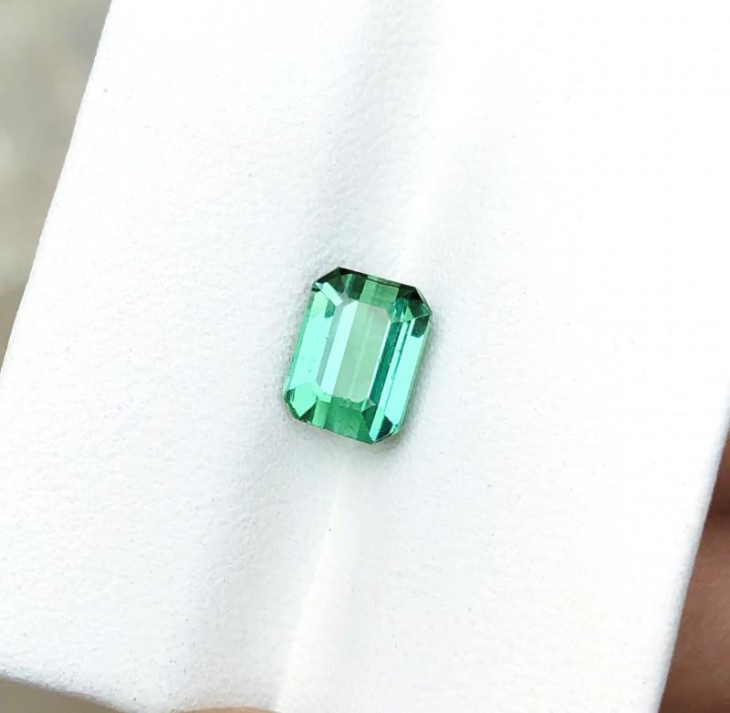 1.70 Ct Natural Blueish Green Transparent Tourmaline Gemstone