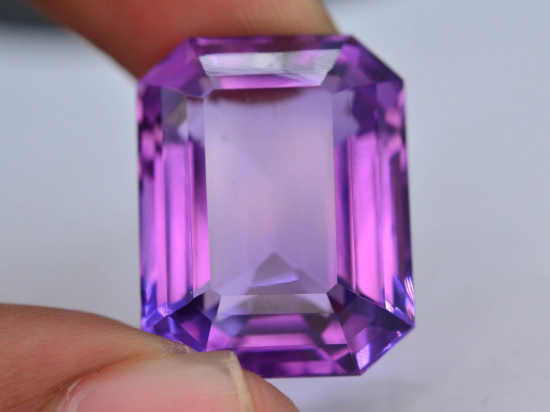 .Top Color 32.30CT Natural Gorgeous Color Fancy Cut Amethyst ~ I B