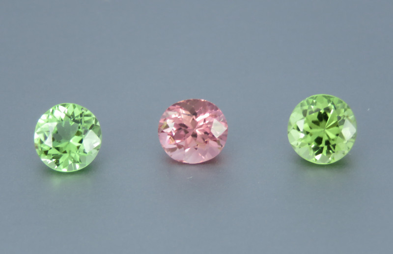 Flawless Natural Beautiful Tourmaline From Afghanistan (Set of 3)