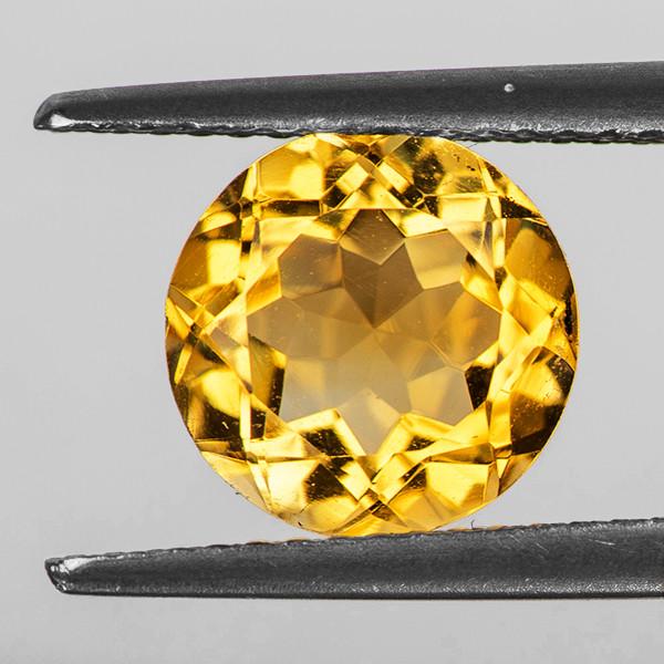 9.00 mm Round 2.62cts Golden Yellow Citrine [VVS]