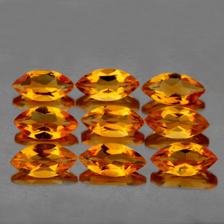 8x4 mm Marquise 9 pcs 4.40cts Golden Orange Citrine [VVS]