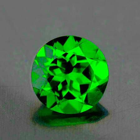 4.50 mm Round 0.38ct Chrome Green Diopside [VVS]