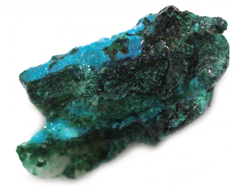 46.60 CTS CHRYSOCOLLA  WITH GEM SILICA - BRAZIL [F8749]