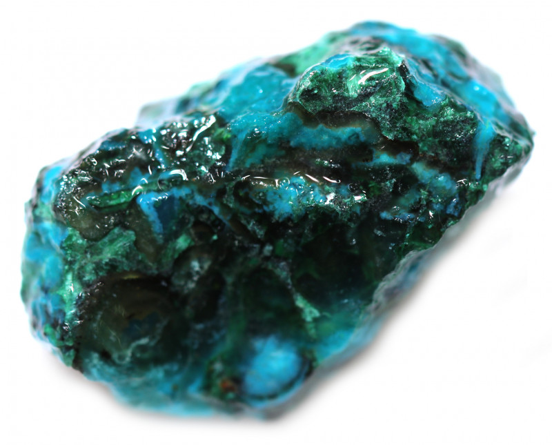 70.00 CTS CHRYSOCOLLA  WITH GEM SILICA - BRAZIL [F8751]