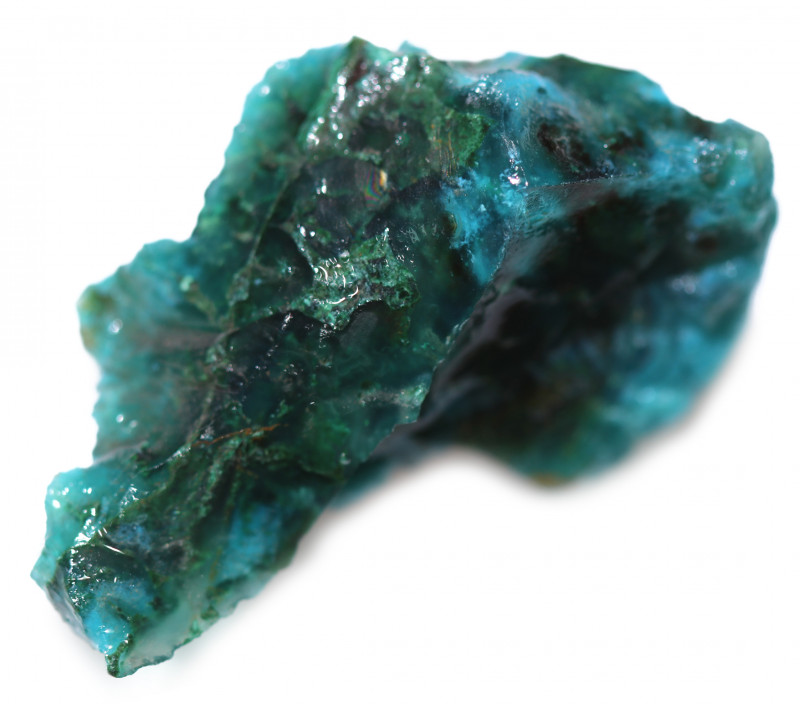 55.20 CTS CHRYSOCOLLA  WITH GEM SILICA - BRAZIL [F8755]