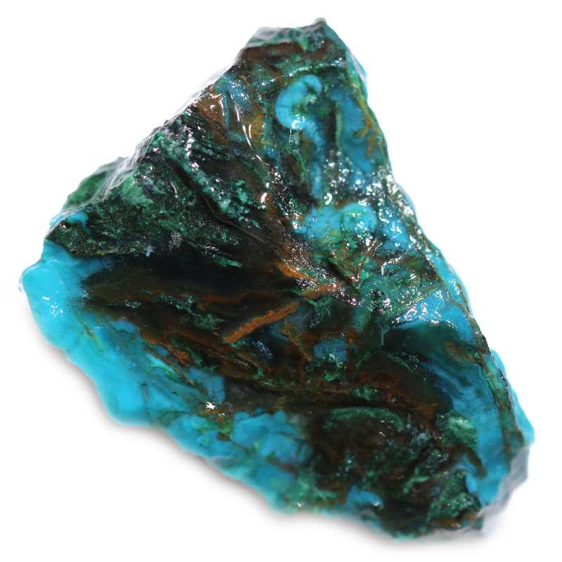 52.20 CTS CHRYSOCOLLA  WITH GEM SILICA - BRAZIL [F8756]