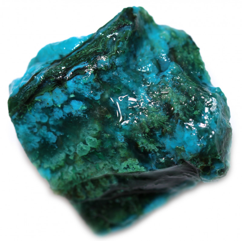 115.00 CTS CHRYSOCOLLA  WITH GEM SILICA - BRAZIL [F8757]