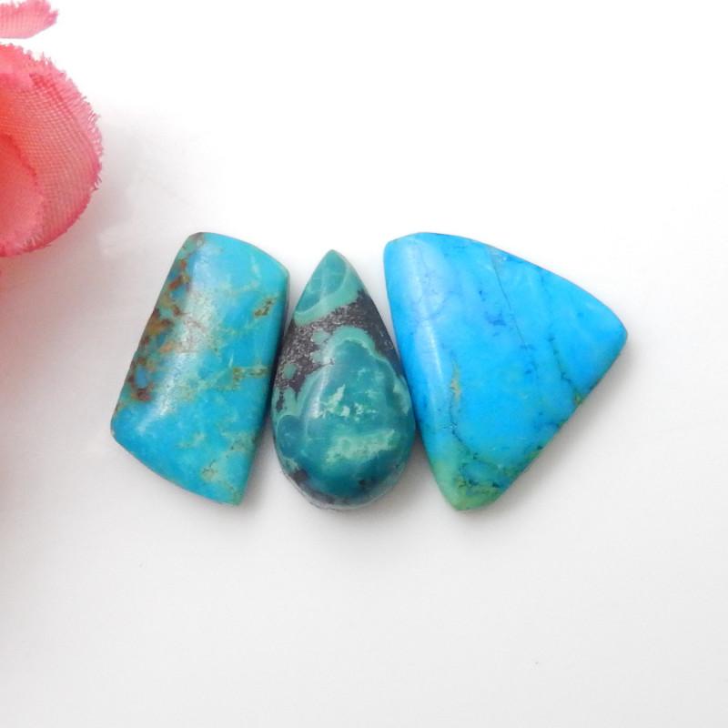 3pcs Turquoise ,Handmade Gemstone ,Turquoise Cabochons ,Lucky  Stone F656