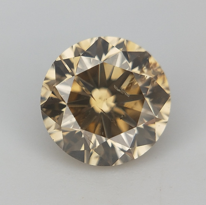 Brown Natural Diamond , Slight Inclusion , SI purity Diamond , 0.45 cts