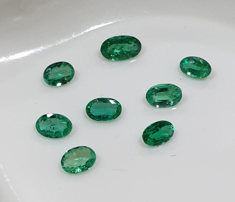 8 Pcs Emerald Lot 3x2mm 0.55ct(SKU186)