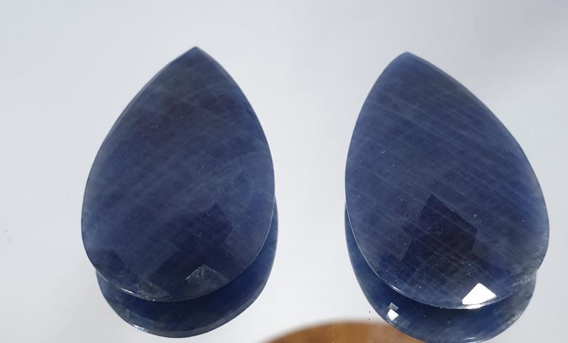 1 Pair Huge Sapphire 80 Ct 40x22.5mm Drop(SKU181)