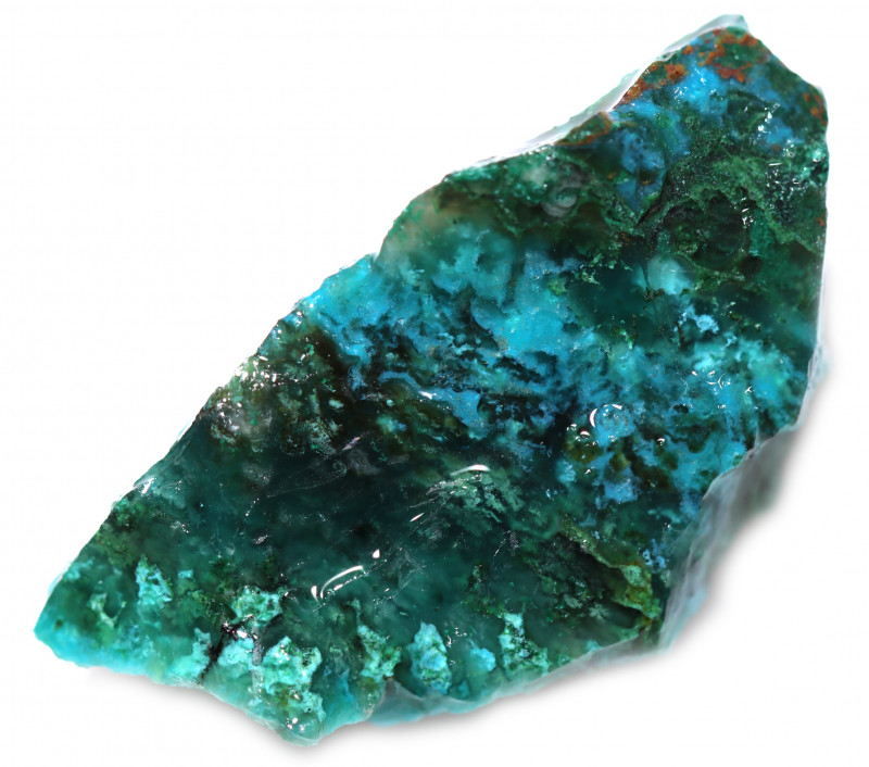110.00 CTS CHRYSOCOLLA  WITH GEM SILICA - BRAZIL [F8765]