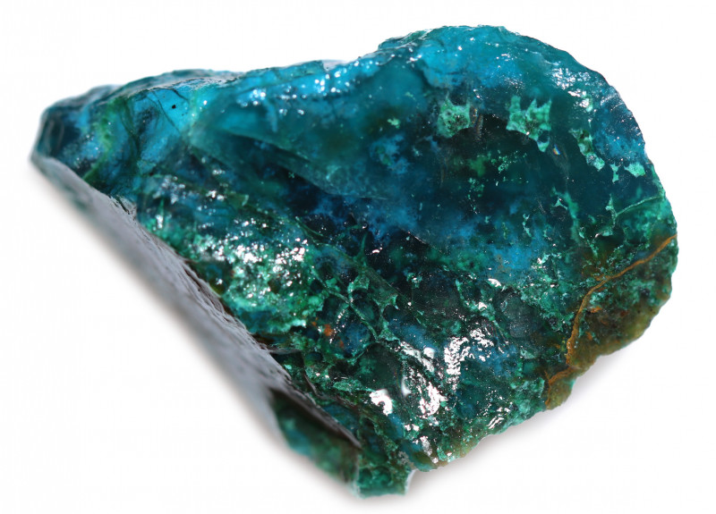 50.00 CTS CHRYSOCOLLA  WITH GEM SILICA - BRAZIL [F8768]