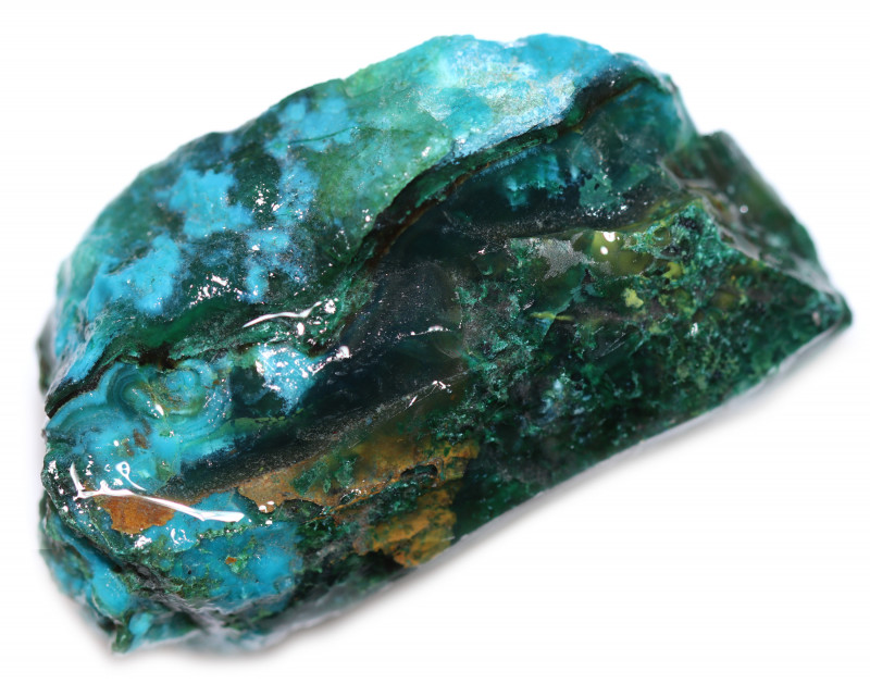 190.00 CTS CHRYSOCOLLA  WITH GEM SILICA - BRAZIL [F8770]