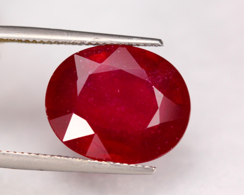 17.85Ct Blood Red Color Ruby Oval Cut Lot LZ6259