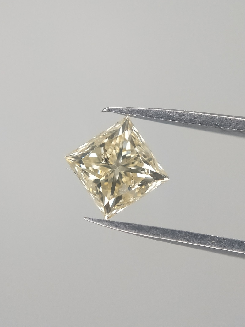 Light Yellow Diamond , Diamond With Natural Impurities , 0.51 cts