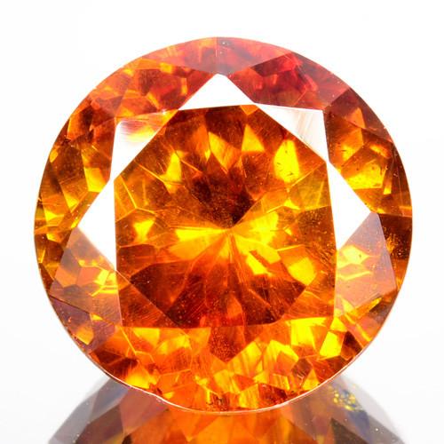 9.85 Cts Natural Fire Sunset Yellow Sphalerite Round Cut Spain Gem