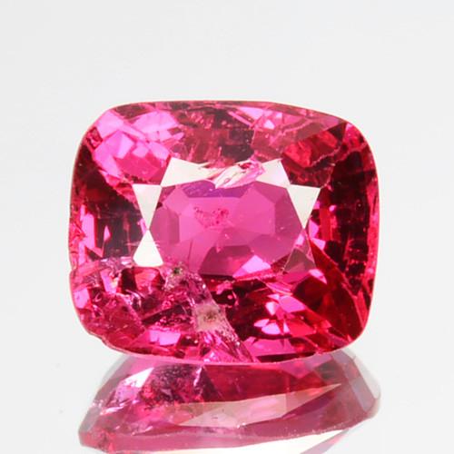 1.01 Cts Beautiful Natural  Hot Pink Spinel Cushion Srilanka