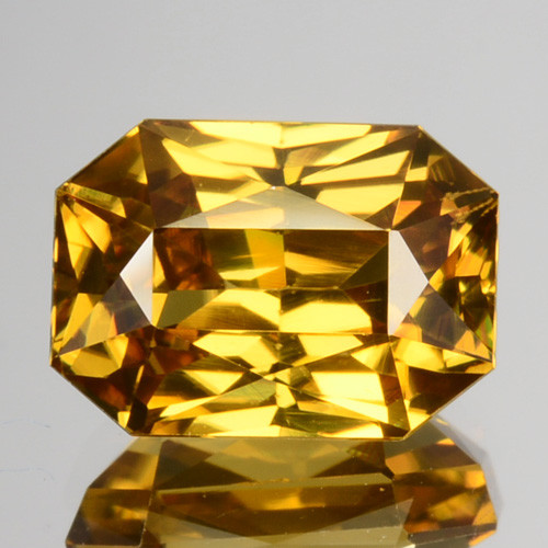 3.28 Cts Natural Yellowish Brown Zircon Octagon Cut Tanzania
