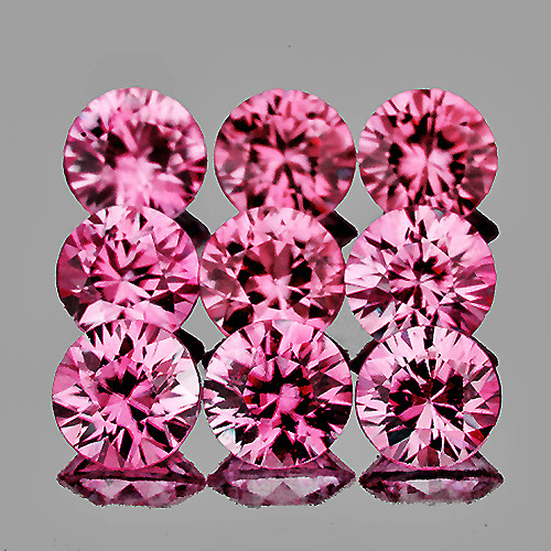 2.70 mm Round 9 pcs Pink Sapphire [VVS]