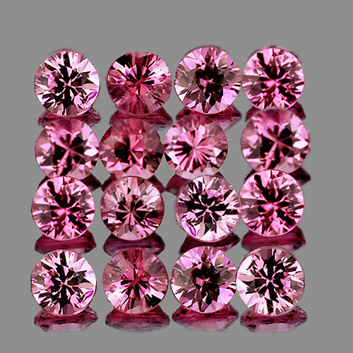 2.40 mm Round Machine Cut 16 pcs Pink Sapphire [VVS]
