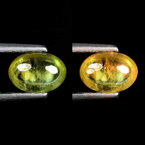 0.92 Ct Natural Sphene Color Change Sparkiling Luster Gemstone. SPC 35