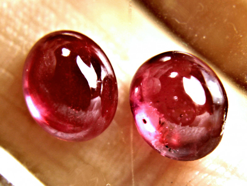 5.19 Tcw. Matched Ruby Cabochon Pair - Gorgeous