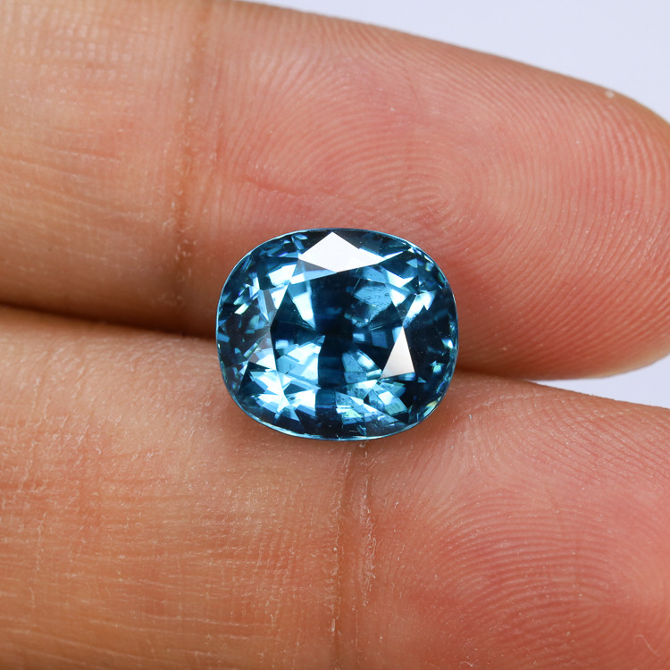 9.98ct Lab Certified Blue Zircon