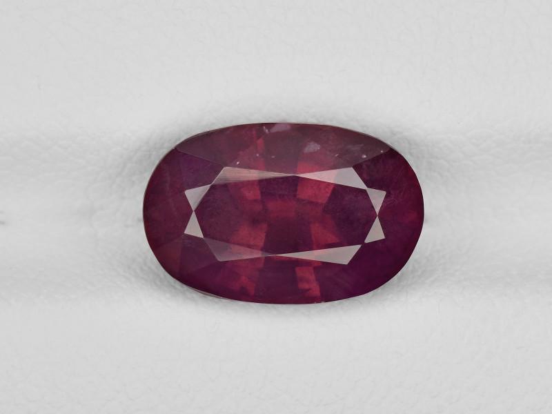 Ruby, 5.07ct - Mined in Kashmir   Certified by GRS
