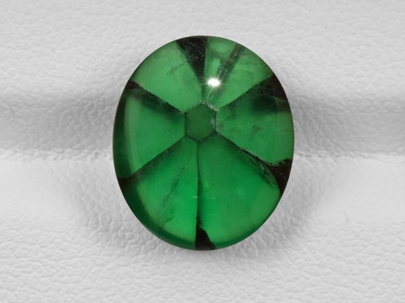 Trapiche Emerald, 7.09ct - Mined in Colombia | Certified by GIA