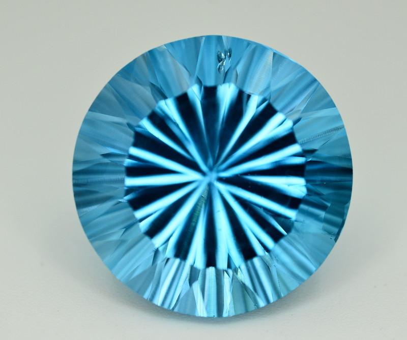 Amazing Laser Cut 31.90 Ct Natural Swiss Blue Color Topaz