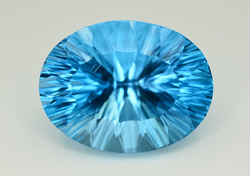 Amazing Laser Cut 40.70 Ct Natural Swiss Blue Color Topaz