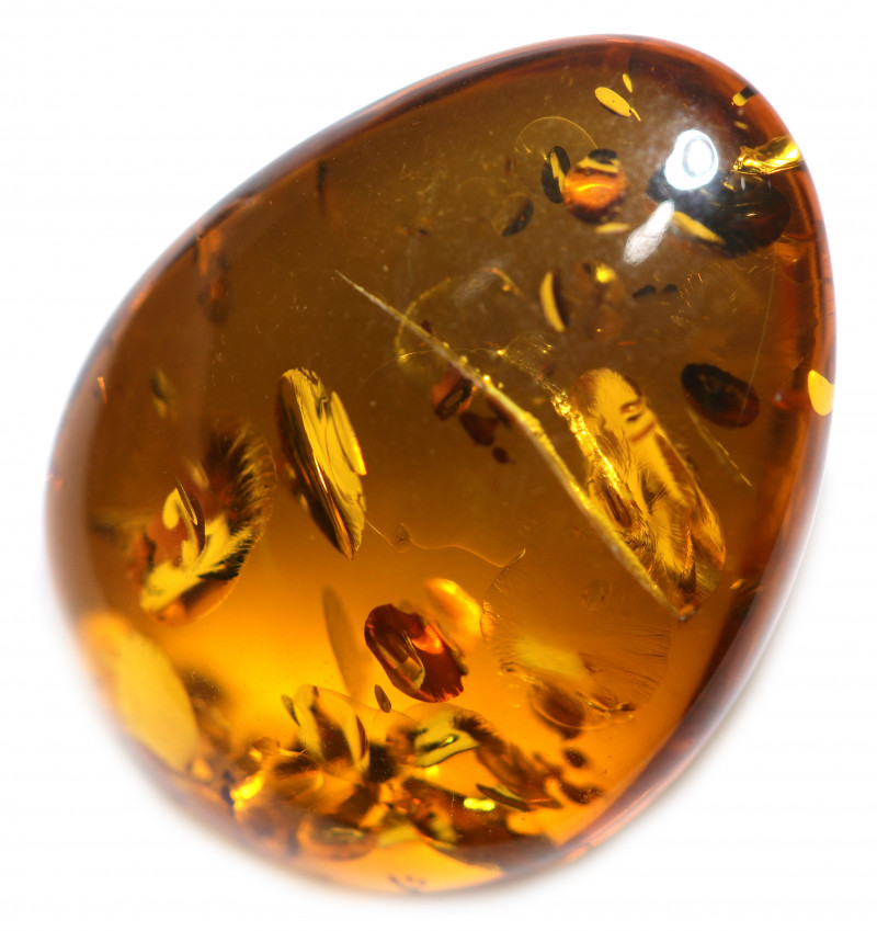 24 Cts  Honey  Yellow Amber Gemstones    AM 1678