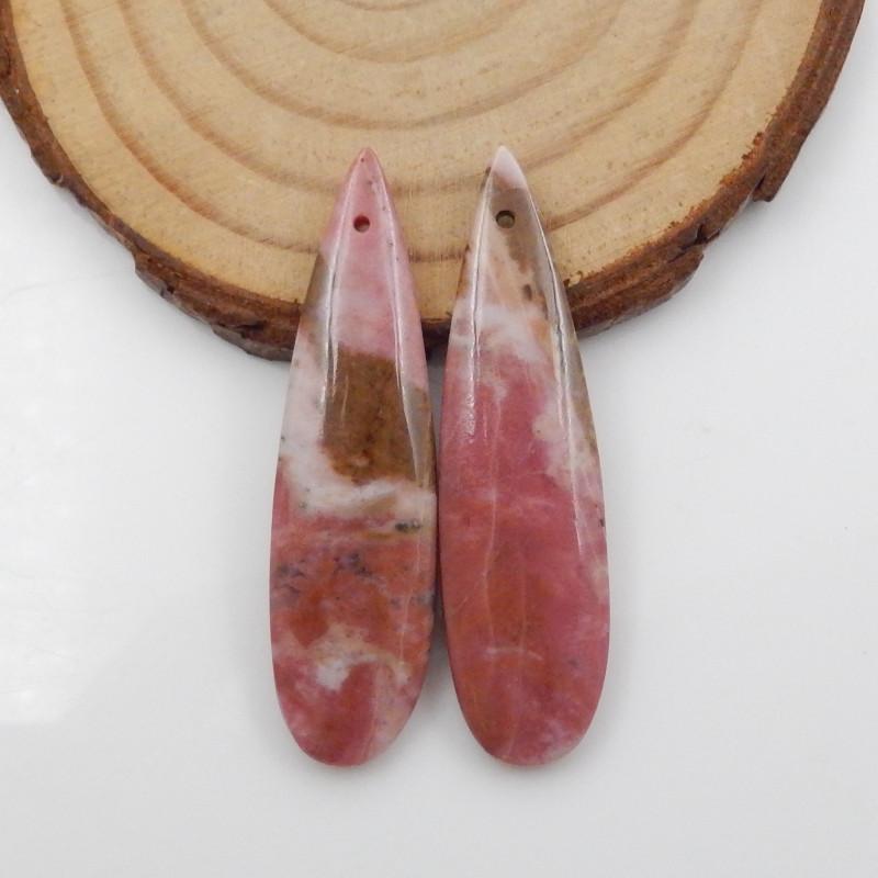 51cts Rhodonite earrings ,natural rhodonite earrings ,healing stone F720