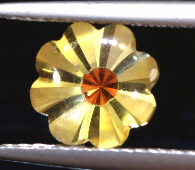 1.70 CTS -CITRINE FLOWER CARVING    LG-7