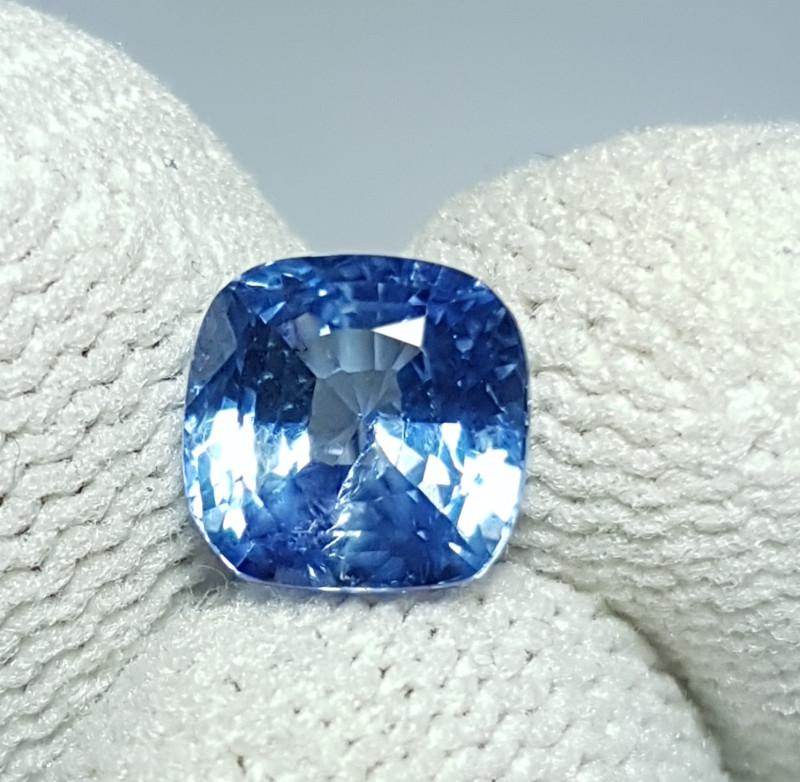 NO HEAT 2.04 CTS CERTIFIED NATURAL STUNNING CORNFLOWER BLUE SAPPHIRE SRI LA