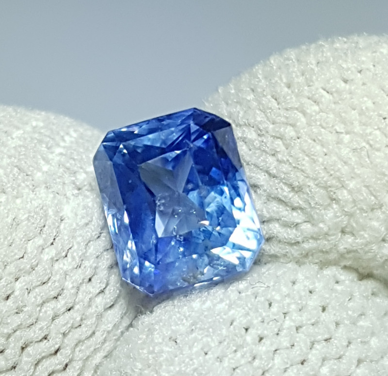 NO HEAT 2.14 CTS CERTIFIED NATURAL STUNNING OCTAGON MIX BLUE SAPPHIRE SRI L