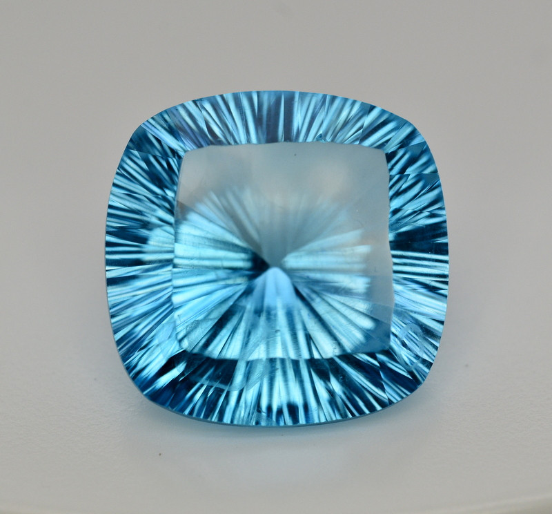 Amazing Laser Cut 49.65 Ct Natural Swiss Blue Color Topaz