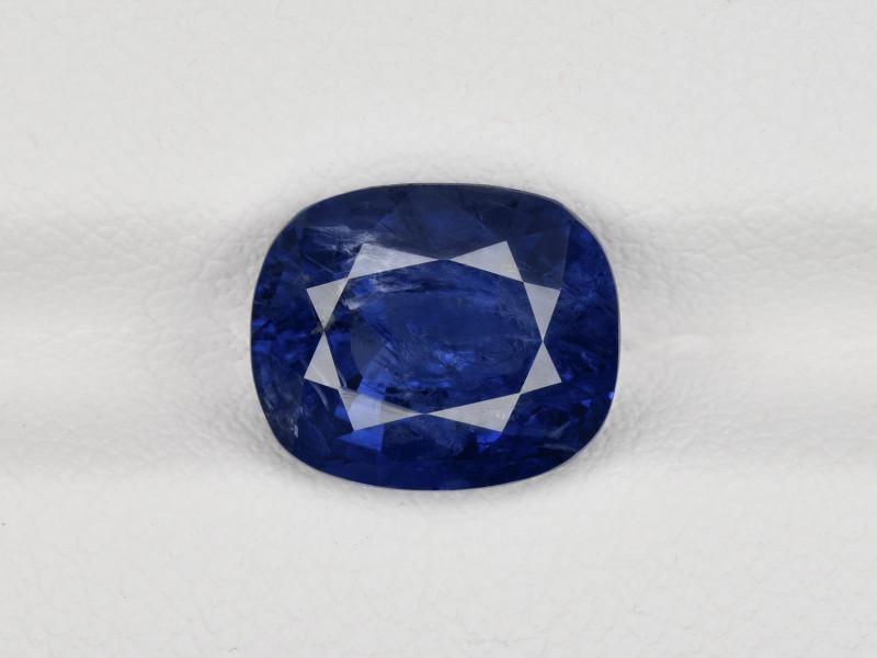 Blue Sapphire, 4.36ct - Mined in Kashmir | Certified by GRS