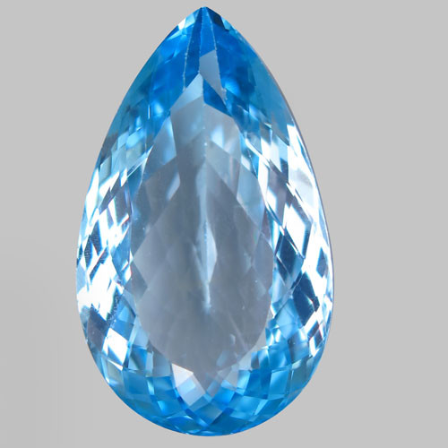 38.00 ct. 100% Natural Earth Mined  Top Quality Swiss Blue Topaz Brazil